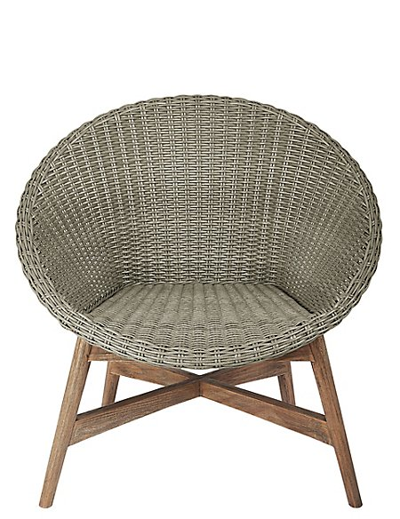 Capri Teak Chair - Grey
