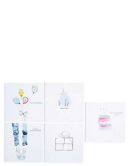Illustration Pack Birthday Card Bundle