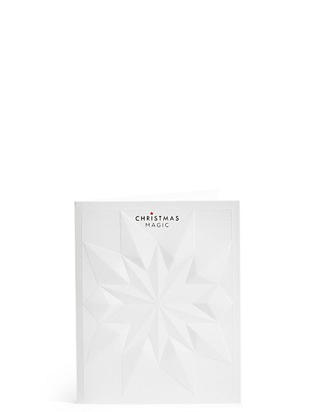 Embossed Luxury Star Christmas Charity Cards Pack of 4