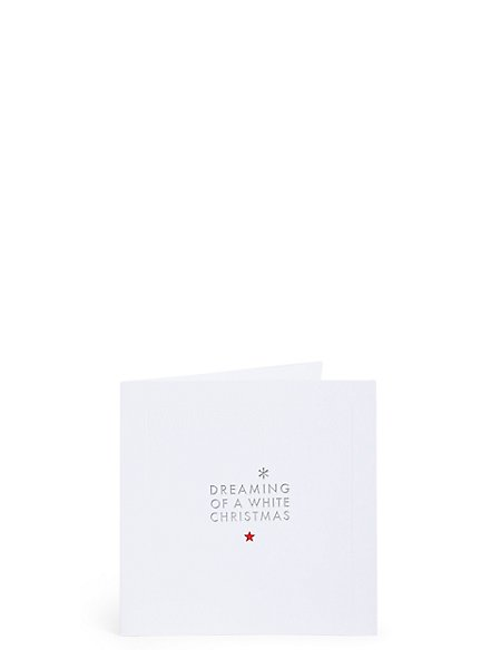 Dreaming of a White Christmas Charity Cards Pack of 20