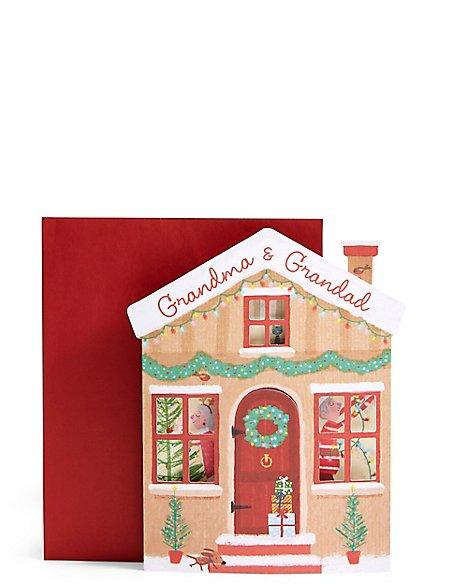 Grandma & Grandad Deck The Halls Christmas Card