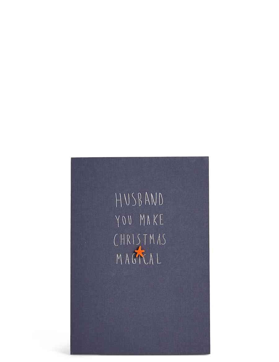 Husband Star Christmas Card | M&S