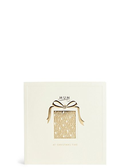 Mum Gold Laser Cut Present Christmas Card