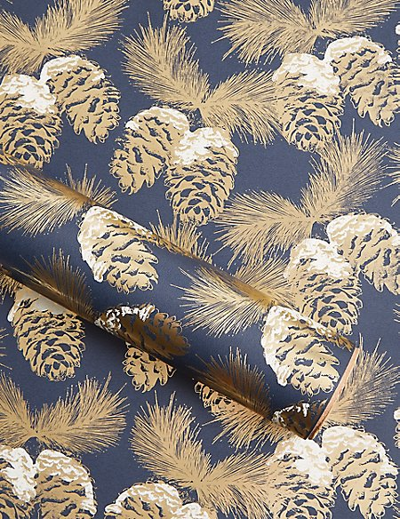 Pine Cones Christmas Wrapping Paper 3m