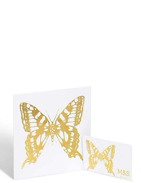 Foil Butterfly Gift Card