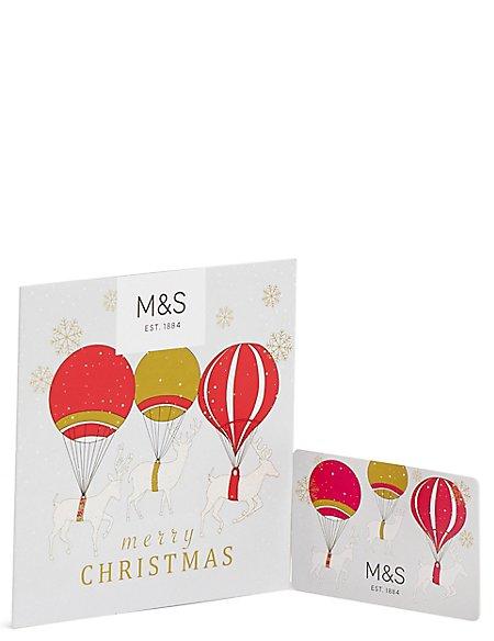Reindeer & Balloons Gift Card