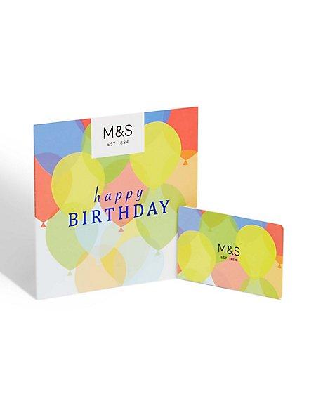 Balloons Happy Birthday Gift Card Ms