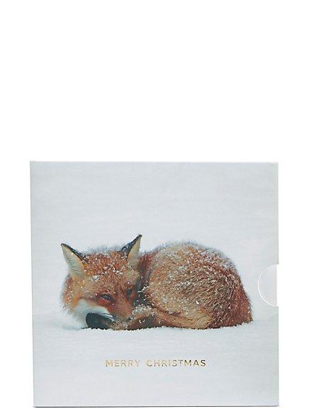 Christmas Fox Gift Card