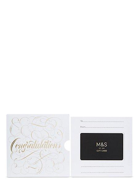 Congratulations Script Gift Card