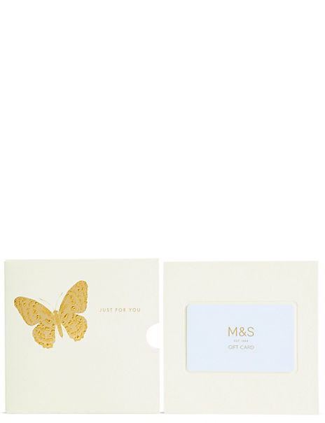 Just for You Butterfly Gift Card