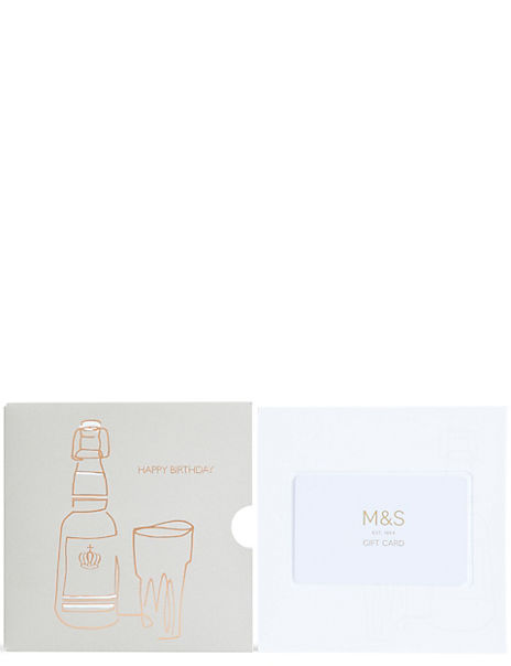 Beer Glass Happy Birthday Gift Card