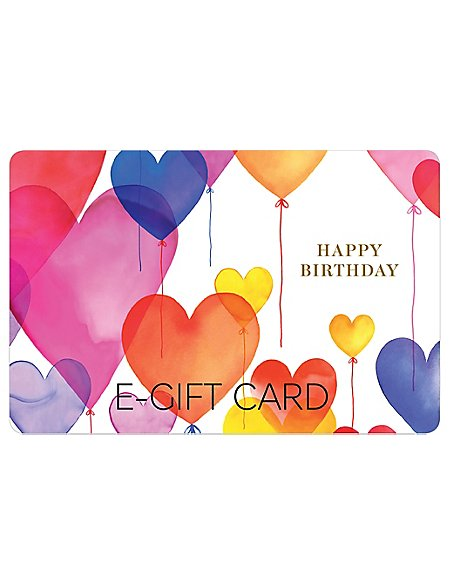 Birthday Balloons E Gift Card