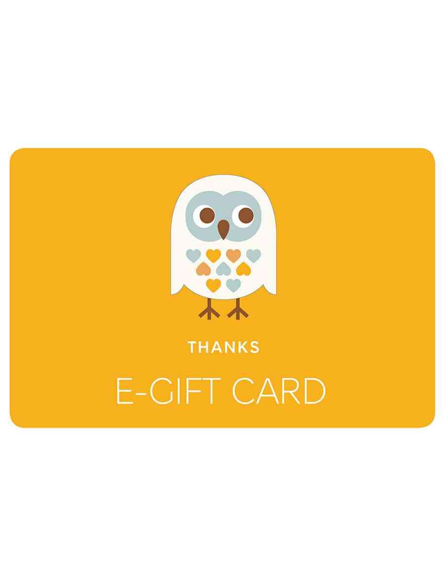 Thank You Owl E Gift Card M S