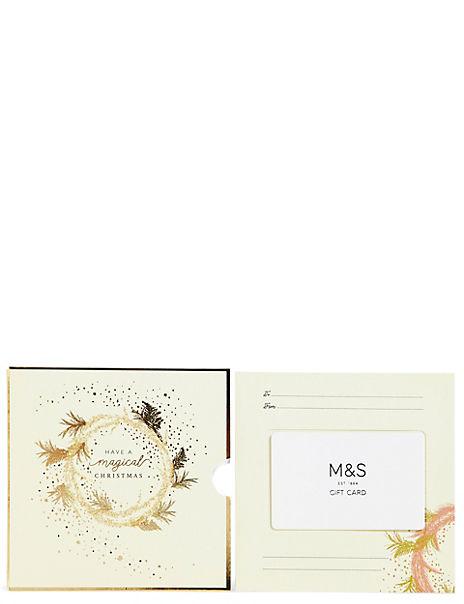 Christmas Wreath Gift Card