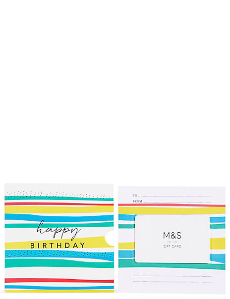 Just For You Stripes Gift Card