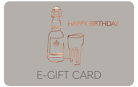 Beer Glass Happy Birthday E-Gift Card