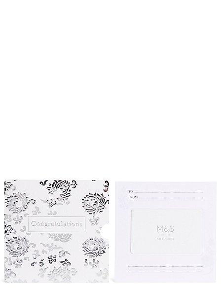 Congratulations Silver Gift Card