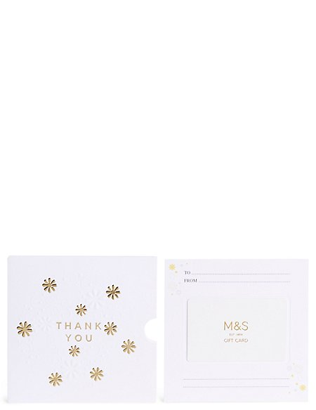 Thank You Gold Flowers Gift Card