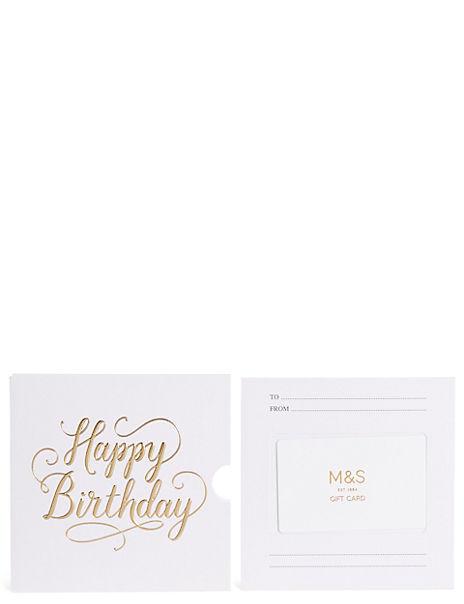 Happy Birthday Text Gift Card