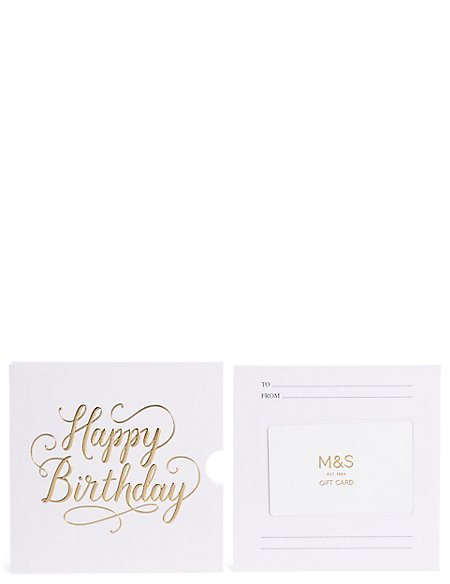 Happy Birthday Text Gift Card