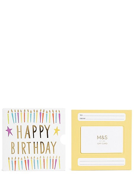 Birthday Candles Gift Card