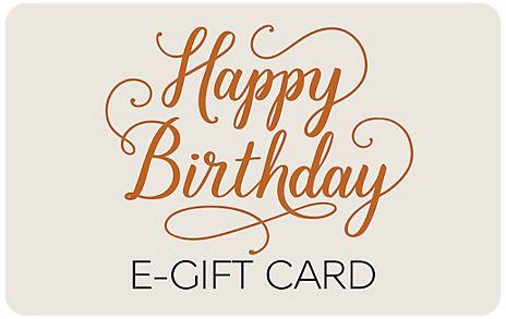 Happy Birthday Text E-Gift Card