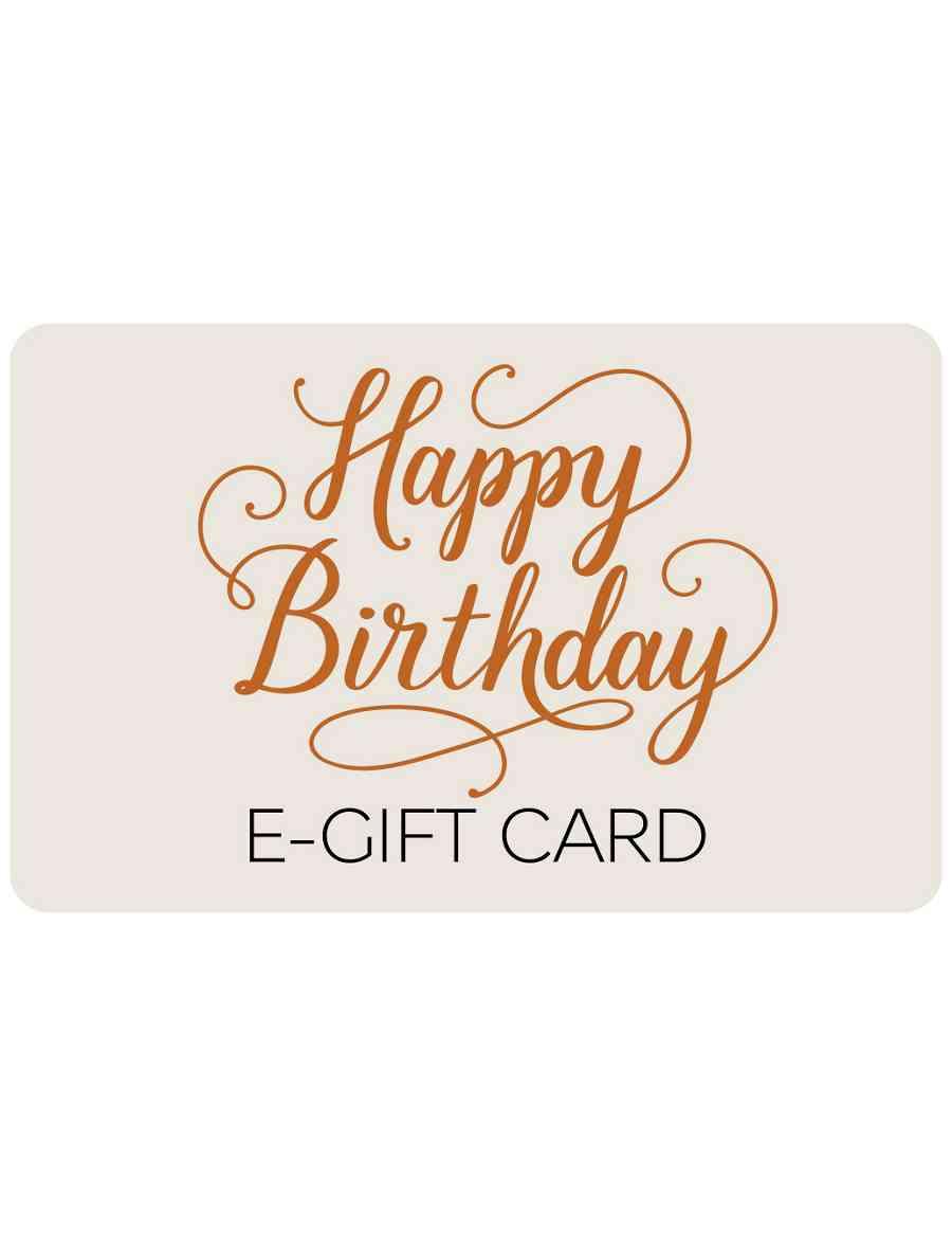 Happy Birthday Text E Gift Card