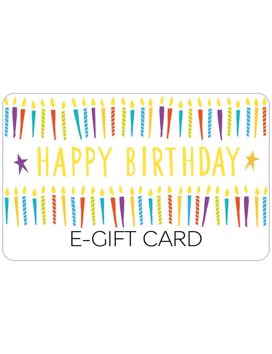 Birthday Candles E Gift Card