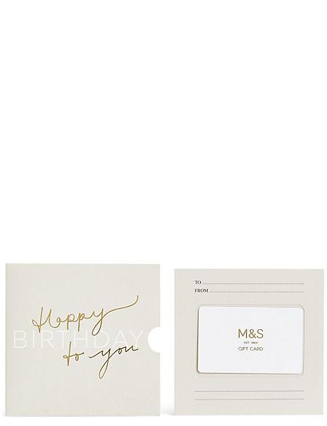 Birthday Script New Gift Card