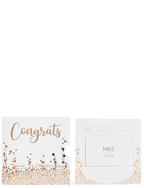 Congrats Bubbles Gift Card