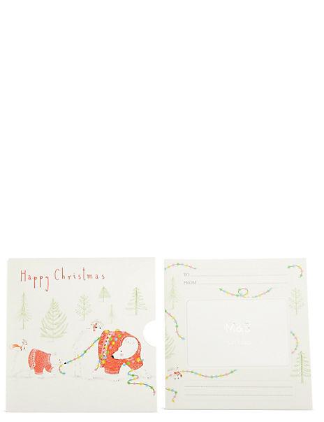 Polar Bear in Lights Gift Card
