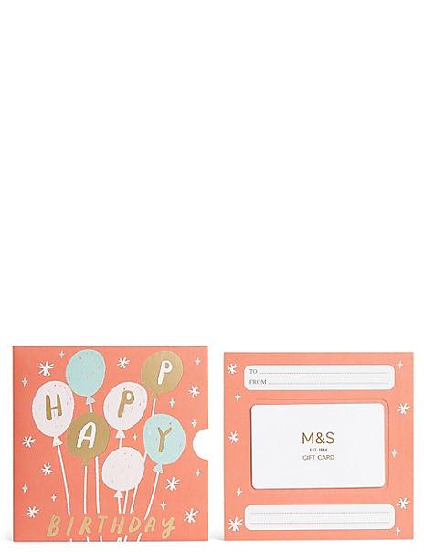 Pastel Balloons Gift Card