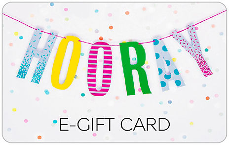 Hip Hip Hooray Bunting E-Gift Card