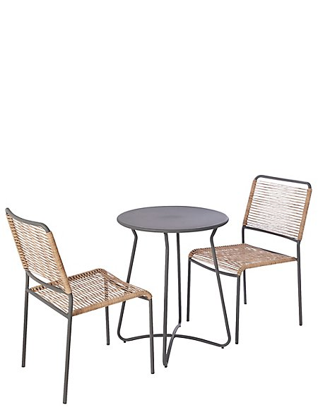 Lois Bistro Table & 2 Chairs Set