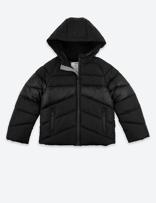 Padded Hooded Coat (3-16 Years)