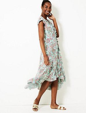 02e030439367 Paisley Print Wrap Beach Dress | M&S Collection | M&S