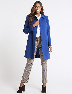 9a0db272 Patch Pocket Coat | M&S Collection | M&S