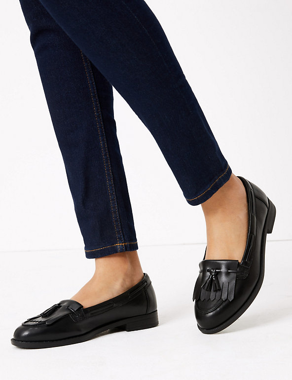 Patent Tassel Loafers   M&S Collection   M&S