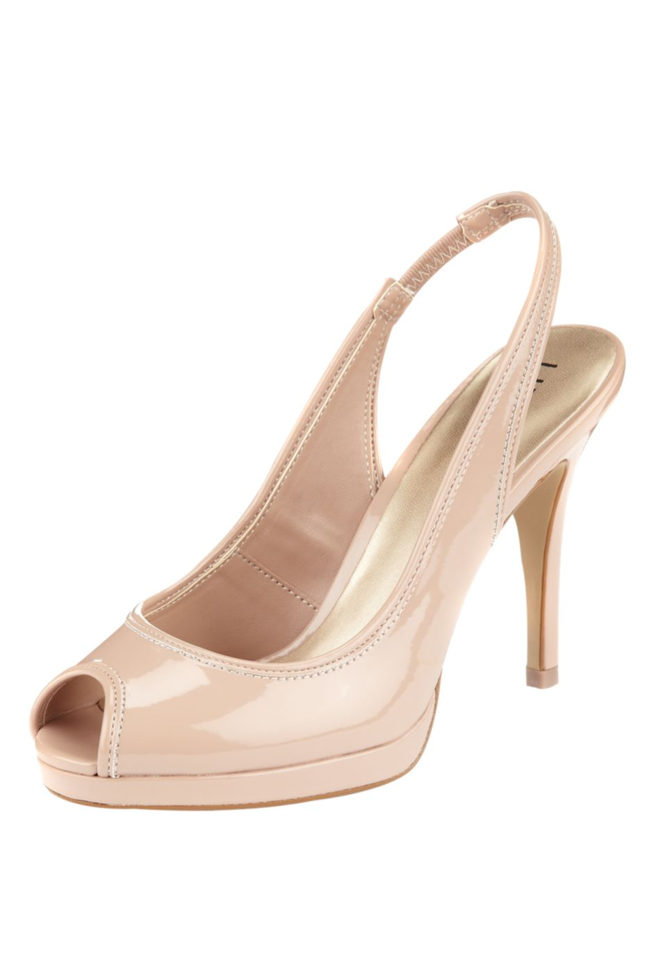 Peep Toe Stiletto Heel Slingback Shoes