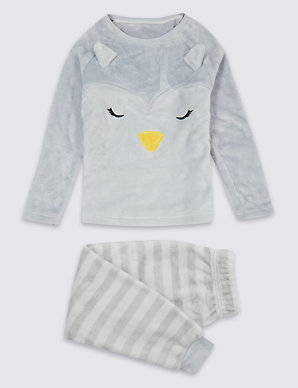 a3c84132f Penguin Fleece Pyjamas (1-16 Years) | M&S