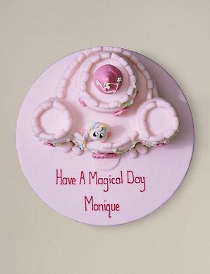 e7cf513050b7e Personalised Fairytale Castle Cake (Serves 36)