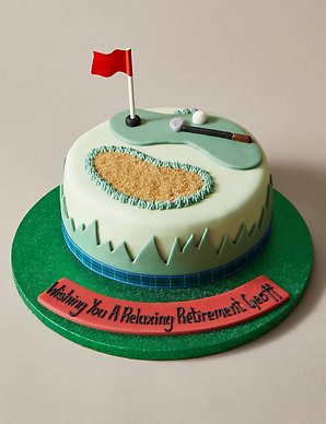 Peachy Personalised Golf Cake Serves 24 Ms Birthday Cards Printable Trancafe Filternl
