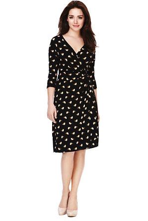b17c05615412e Petite Crossover V-Neck Sailboat Print Wrap Dress | M&S