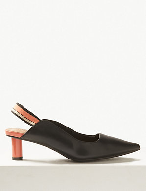 ee4f662c78 Pointed Toe Slingback Shoes | M&S Collection | M&S