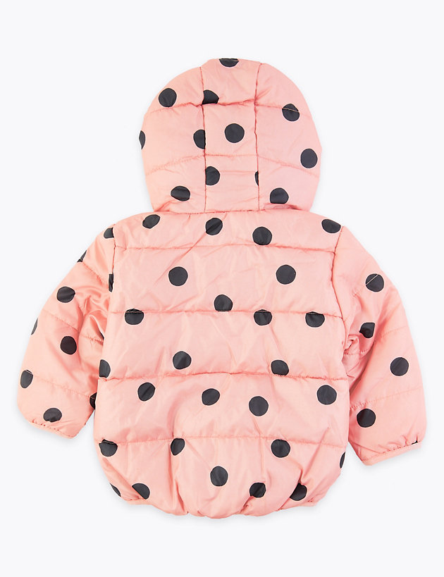 Polka Dot Quilted Coat