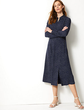 ca425a34e8f3 Polka Dot Shirt Midi Dress | M&S Collection | M&S