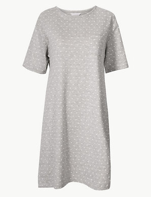 d96a458746 Polka Dot Short Nightdress | M&S Collection | M&S