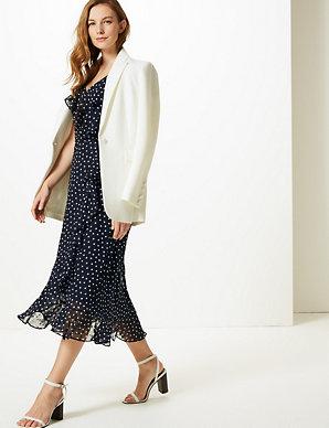 cbc8077a1b5f Polka Dot Wrap Midi Dress | M&S Collection | M&S