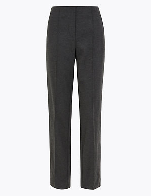 M/&S COLLECTION  Wide Leg Ankle Grazer Trousers ~ BLACK