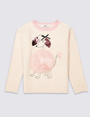 f5c045e714f8 Poodle Knitted Jumper (3-16 Years) | M&S